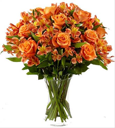Photo of flowers: Orange Flowers in Vase