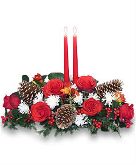 Photo of flowers: Yule Tide Glow Centrepiece