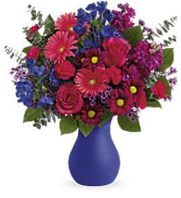 Photo of flowers: Teleflora's Jewel Tones Bouquet