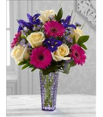 Photo of Hello Happiness Bouquet in Vase  - BWL