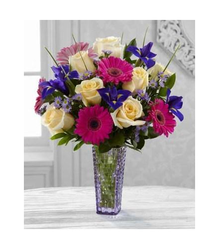 Photo of flowers: Hello Happiness Bouquet in Vase