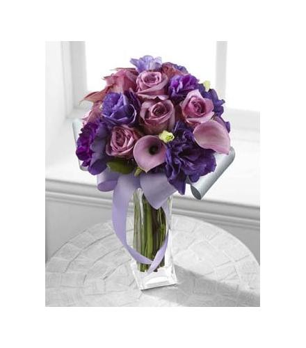 Photo of flowers: Shades of Purple Bouquet Vased