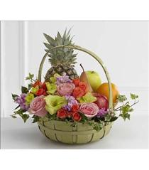 Photo of The FTD Rest in Peace Fruit & Flowers Basket - S56-4572