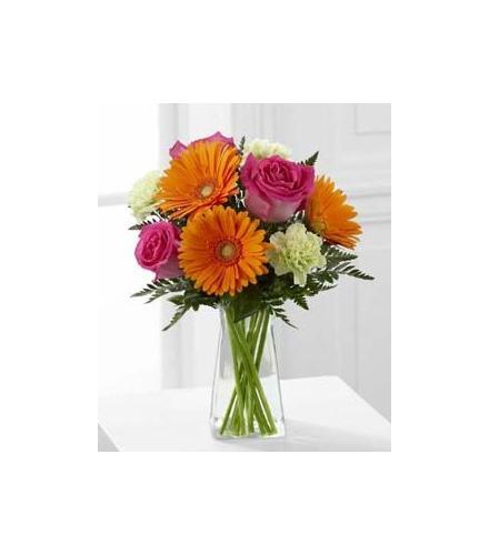 Photo of BF7272/C7-4925 (3 roses + 3 gerbera + 3 carnations)