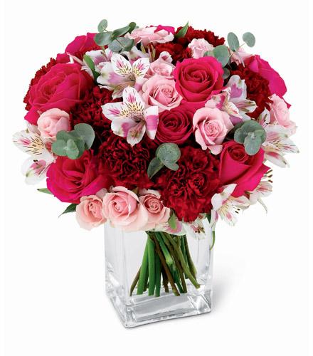 Photo of flowers: Gentle Caresses Roses n Vase