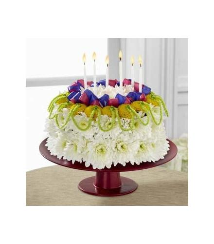 Photo of flowers: Bright Days Ahead Floral Cake FTD