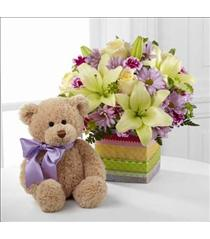 Photo of The FTD Welcome Bear Bouquet - D6-4907