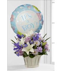 Photo of Boys Are Best! Basket Bouquet  - D7-4903
