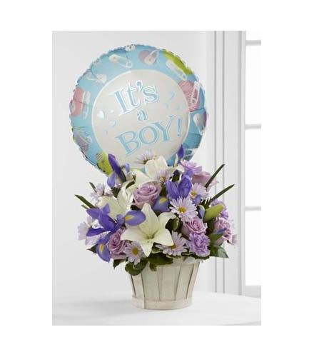 Photo of flowers: Boys Are Best! Basket Bouquet