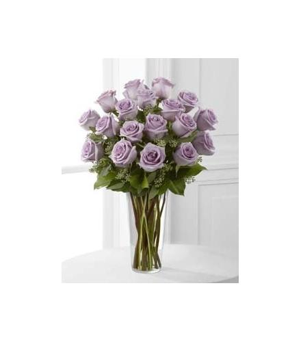Photo of flowers: Lavender Roses in Vase