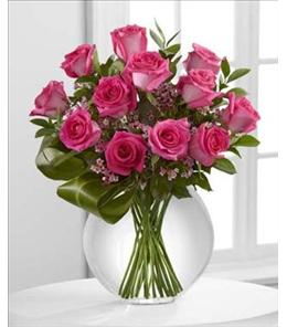 Photo of Blazing Beauty Rose Bouquet in Vase - E7-4824