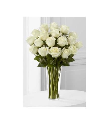 Photo of flowers: The FTD White Rose Bouquet Vased