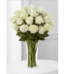 Photo of The FTD White Rose Bouquet Vased - E8-4812