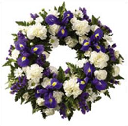 Photo of Blue and White Classic Selection Wreath - 482809