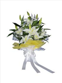 Photo of Lily Bouquet no Vase  - IC-4904