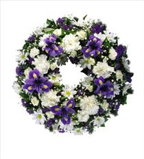 Photo of Blue and White Wreath Large  - IC482508