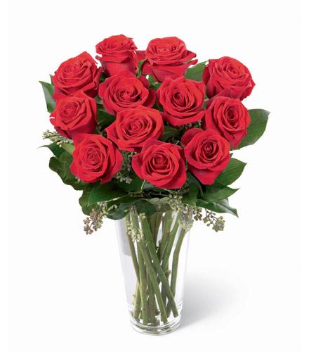 Photo of BF5619/N6-4305 (12 Roses Vased)