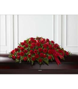 Photo of Dearly Departed Rose Casket Spray - S12-4465