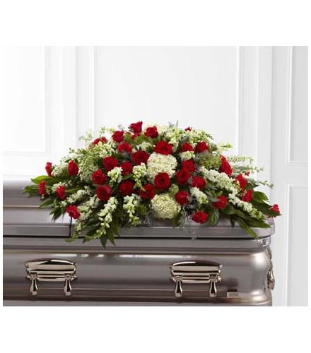 Photo of flowers: The Sincerity Casket Spray