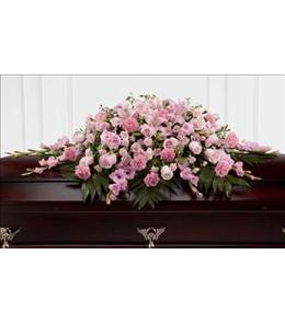 Photo of The Sweetly Rest Casket Spray - S20-4481