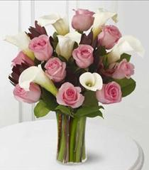 Photo of Warm Embrace Roses and Calla Lilies Vased - S21-4483