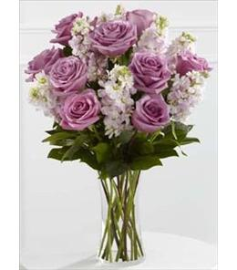 Photo of All Things Bright with Roses in Vase  - S29-4504