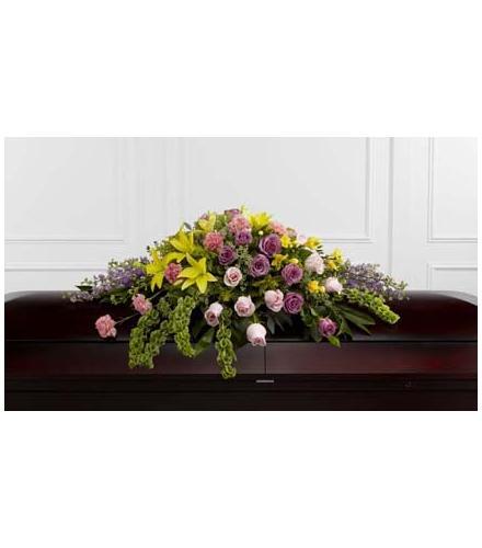 Photo of flowers: Forever Beloved Casket Spray