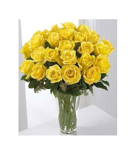 Photo of flowers: Yellow Roses 12, 18, 24 or 36 Vased