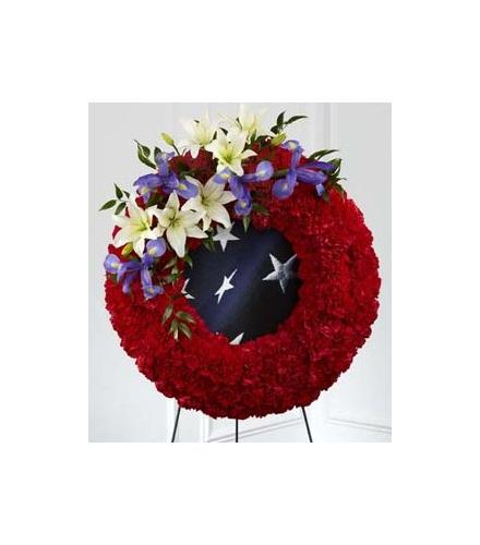 Photo of flowers: The FTD To Honor One's Country Wreath