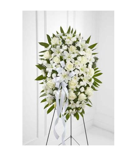 Photo of flowers: Exquisite Tribute Standing Spray on Easel