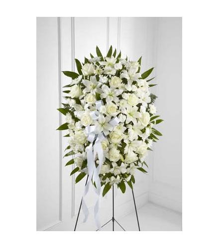 Photo of flowers: Exquisite Tribute Standing Spray Easel