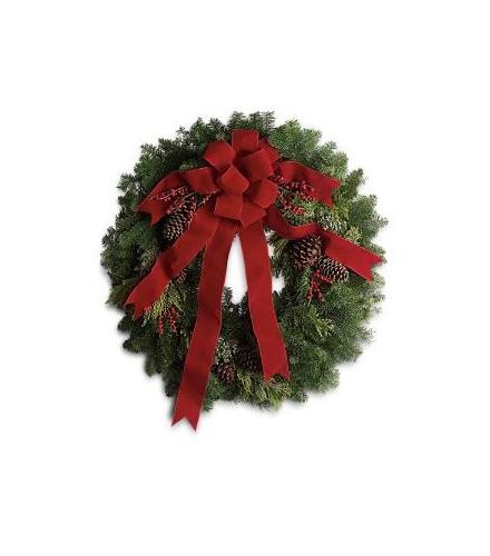 Photo of flowers: Classic Holiday Wreath