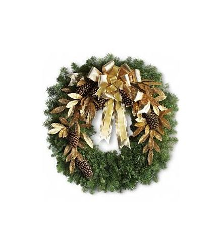Photo of flowers: Glitter & Gold Noble Fir Wreath T130-1