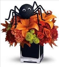Photo of Spooky Sweet in Cube Vase  - T176-2