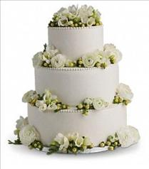 Photo of Freesia and Ranunculus Cake Decoration - T185-1