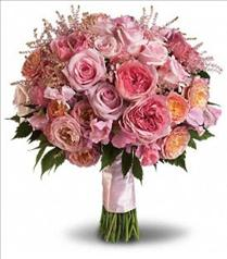 Photo of Pink Rose Garden Bouquet - T191-2