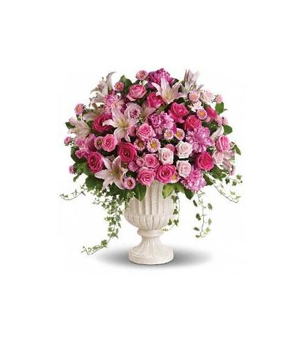 Photo of flowers: Passionate Pink Garden Arrangement
