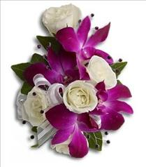 Photo of Fancy Orchids and Roses Wristlet - T200-2