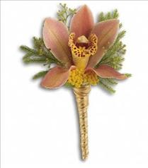 Photo of Sunset Orchid Boutonniere - T202-4