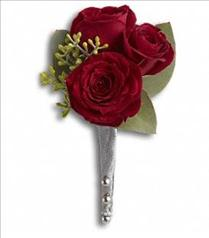 Photo of King's Red Rose Boutonniere - T203-2