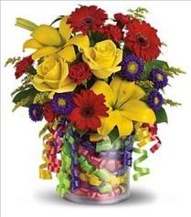Photo of Teleflora's Birthday Ribbon Bouquet - T22-3