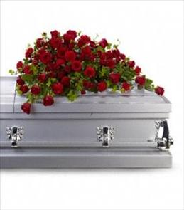Photo of Red Rose Reverence Casket Spray - T225-3