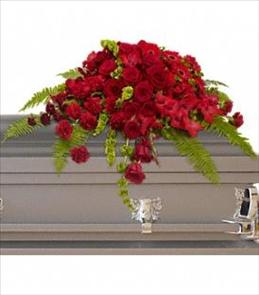 Photo of Red Rose Sanctuary Casket Spray - T230-3