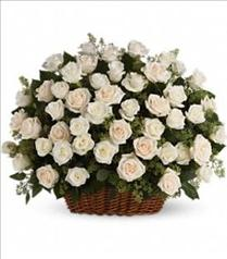 Photo of flowers: Bountiful Rose Basket  Color Choice
