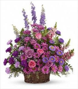 Photo of Gracious Lavender Basket - T235-1