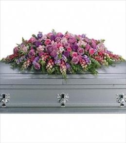 Photo of Lavender Tribute Casket Spray - T235-2
