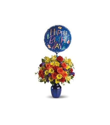 Photo Of Flowers Fly Away Birthday And Balloon
