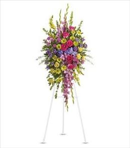 Photo of Bright and Beautiful Easel Spray - T249-3