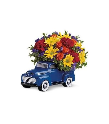 Photo of flowers: 48 Ford Pickup Truck with Your Flowers