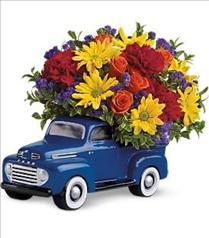 Photo of 48 Ford Pickup Truck with Flowers - T25-1